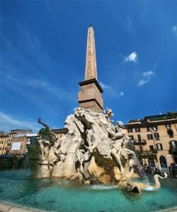 Fontana dei quattro fiumi, Gian Lorenzo Bernini, 1651