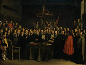 The Ratification of the Treaty of Münster by Gerard Ter Borch, 1648